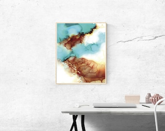 Alcohol Ink Prints,Abstract Wall Art,Blue Printable Art,Modern Wall Art,Printable Abstract Art,Modern Abstract Art, Abstract Blue Prints