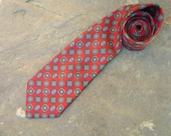 French silk nina ricci tie red patterened
