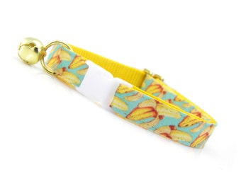 "Fruit Cat Collar - ""Banana Appeal"" - Yellow Banana Cat Collar Breakaway / Summer / Fun Cat Collar / Cat, Kitten & Small Dog Sizes"