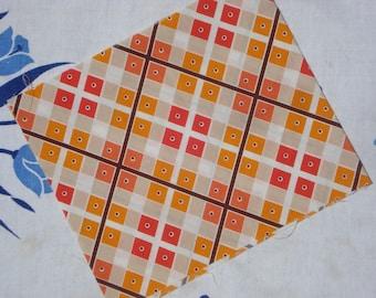 Katie Jump Rope Denyse Schmidt orange argyle plaid Fat Quarter or more