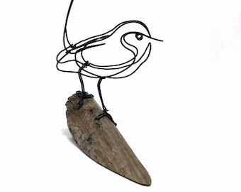 Wren Wire Sculpture, Wren Wire Art, Bird Wire Art, Minimal Art Design, 613327195