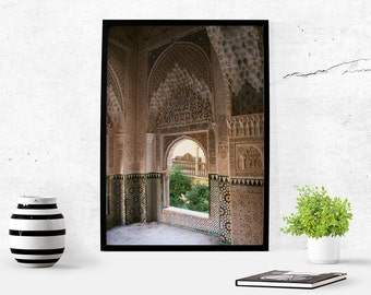 Alhambra Spain Architecture Photography Arabic Art Photography Download Wall Art Photography Gift For Him Digital Download Photography Print