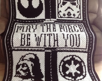 One with the force star wars enamel pin handmade may the force be with you star wars crochet blanket publicscrutiny Gallery