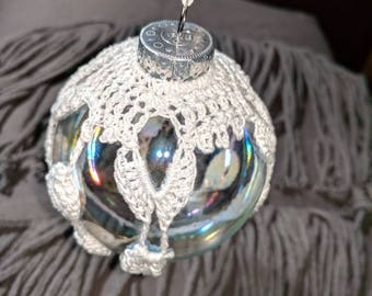 Hand crotchet Christmas ornament
