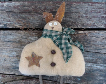 Rabbit Angel with Twig Wings