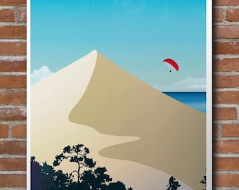 Poster illustrated the Pilat dune