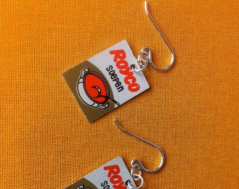 Royco soepen (white, gold and red) earrings