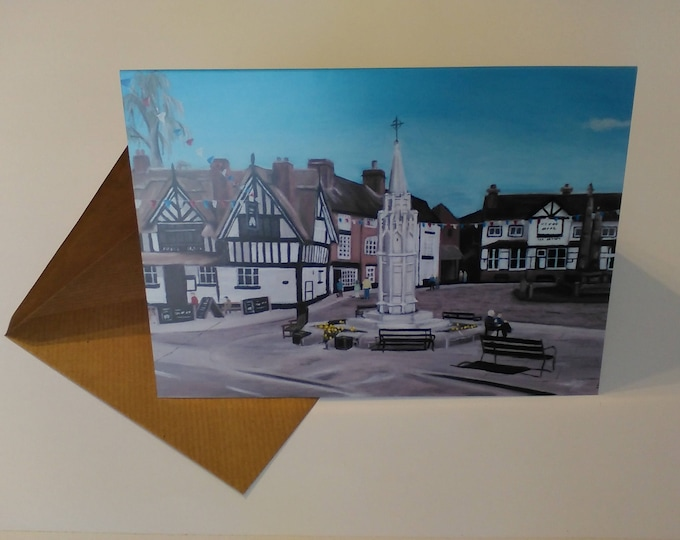 Sandbach Cobbles - Greeting Card with Envelope in Cellophane Wrapping