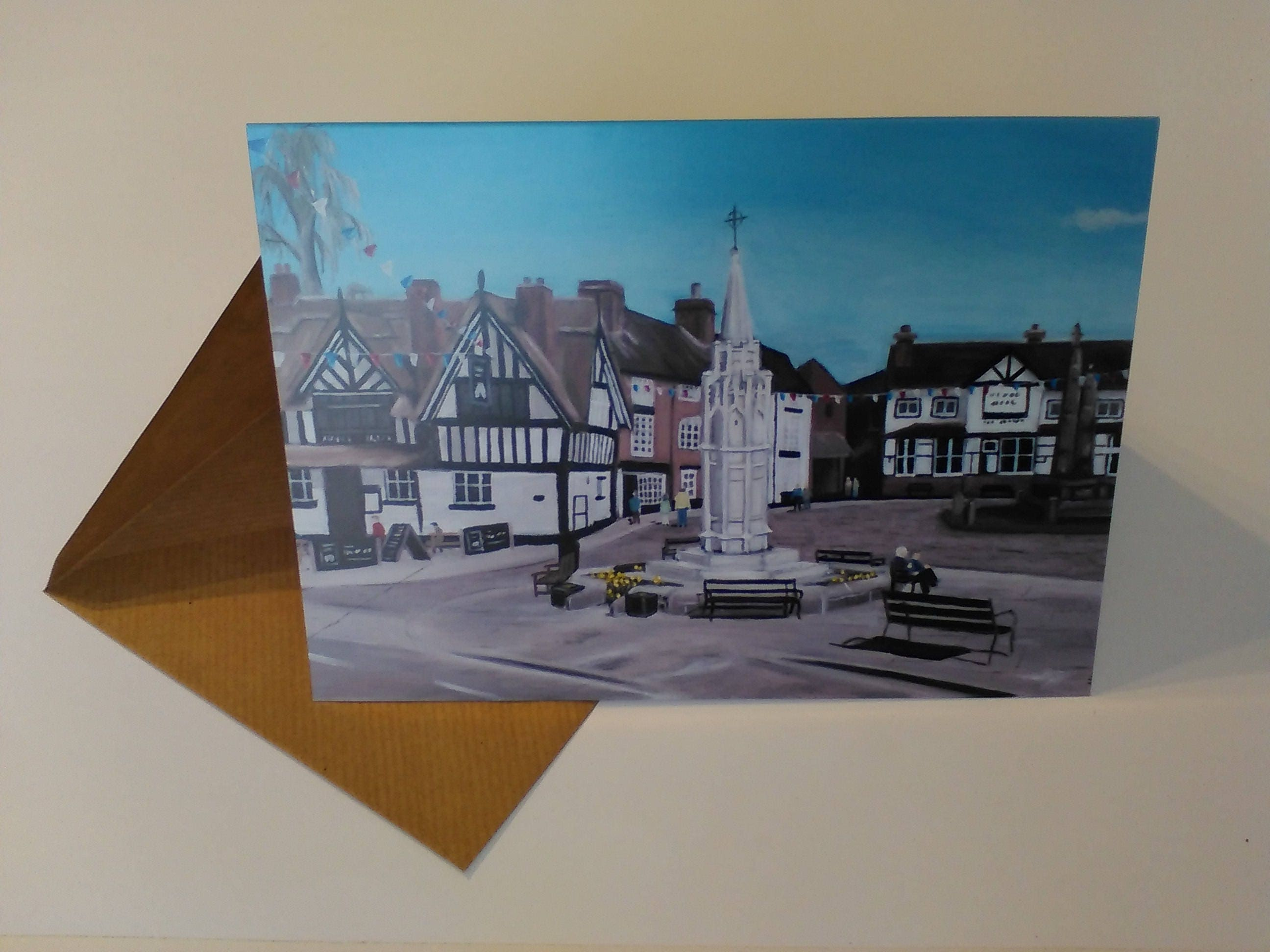 Sandbach cobbles greeting card with envelope in cellophane wrapping m4hsunfo