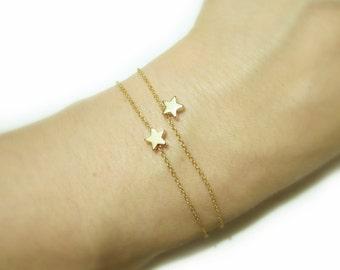 Mini Star Bracelet / Tiny Gold Star Bracelet / Dainty Minimalistic Jewelry / Everyday Jewelry / Astronomy / B408