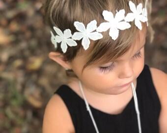 Hippie floral headband