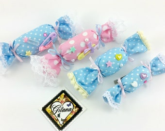 Candy Hair Pin and Brooch-Fairy Kei-lolita- Fairy Kei Accessories-Girl Hair Clip-Harajuku-Lolita Accessories-Kawaii-Gift For Her-Candy