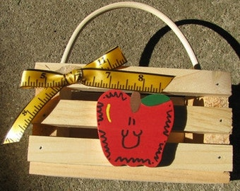 Teacher Gifts 2705 - Teacher Basket with Handle