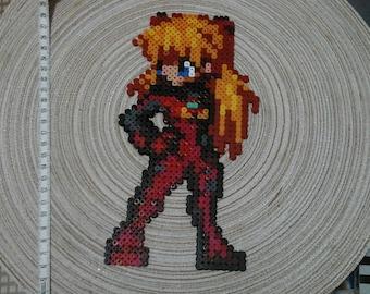Asuka. Evangelion neon genesis Pixel art