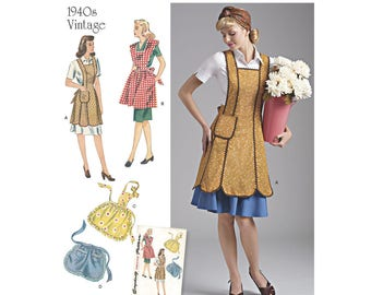 Simplicity Sewing Pattern 8571 Misses' Vintage Aprons