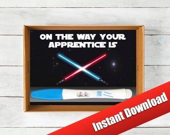 Star Wars, Pregnancy Announcement, Instant Download, Jedi Baby Announcement