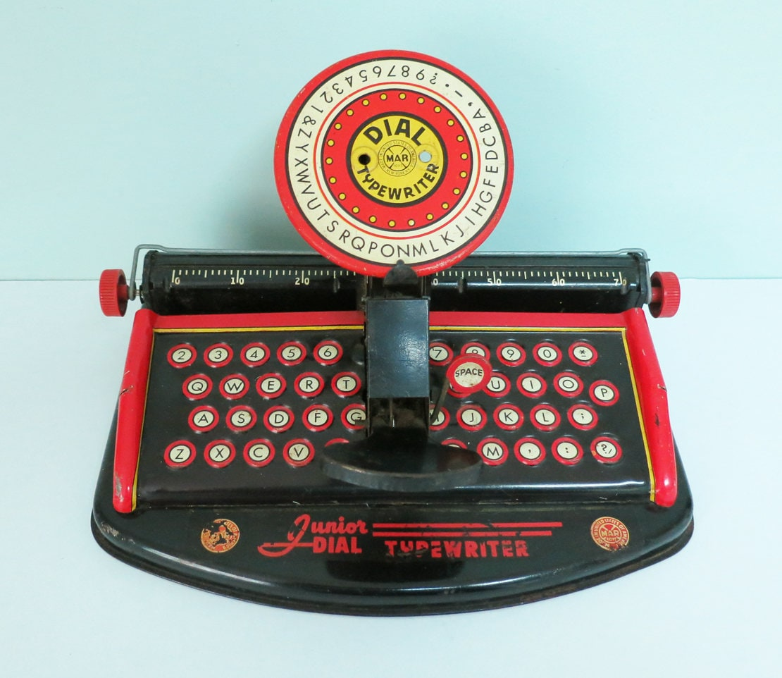 Jahrgang Junior Zifferblatt Spielzeug Schreibmaschine von Marx