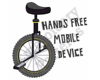Hands Free Mobile Device - Machine Embroidery Design