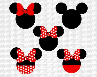 Mickey mouse Svg Disney Svg Minnie Mouse Svg Bow SVG Monogram Svg vector cut file cutting file for Cricut Explore Silhouette Cameo dxf files