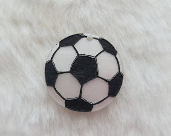 Acrylic Soccer Pendants - Laser Cut and Engraved - Package of 35