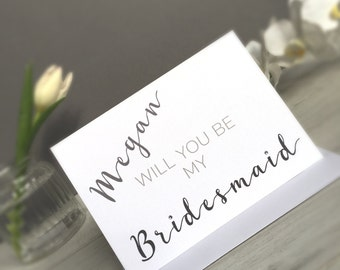 Will You be My Bridesmaid Card, Will You Be Card, Bridesmaid Card, Bridesmaid Invite Card, Bridesmaid Invite, Will You Be Card, Bridesmaid