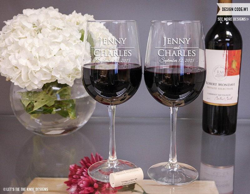 Wedding Gift Wine Glasses Gallery Wedding Decoration Ideas