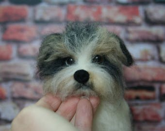 Custom Made Dog. Realistic Felted Dog. Needle Felted Dog. Needle Felted Animal. Soft Sculpture.Felted Animal.Made to order.