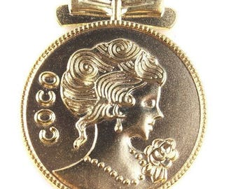 "Medal ""COCO"", gold color alloy, very nice model"