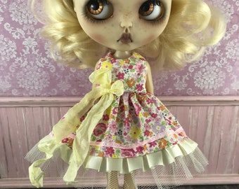 Blythe Dress - Pink & Yellow Floral