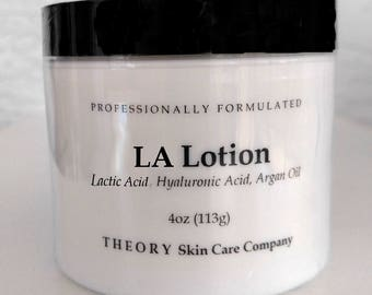 Lactic Acid 15%, Hyaluronic Acid and Argan Oil Skin Softening Lotion, Professionally Formulated
