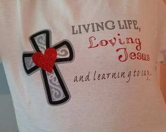 Loving Jesus t-shirt (front & back print)