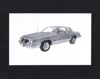 Car art of a 1986 Oldsmobile 442