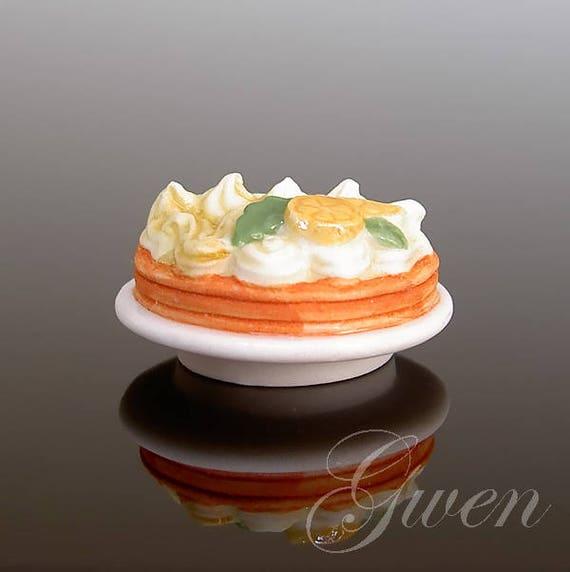 Vintage Tiny French Birthday Cake Lemon Meringue Pie Tart Dish