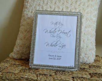 Custom Wedding Love Quote Sign, Digital File