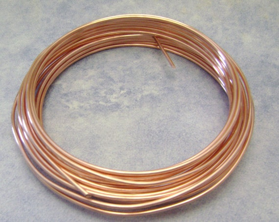 16 Gauge BARE Copper Wire, 15 Feet from SupplyandDesign on Etsy Studio