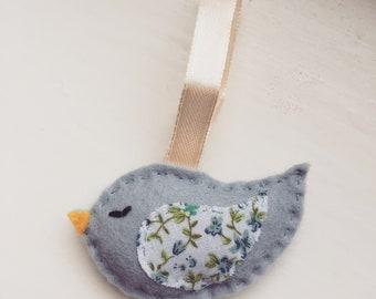 Small felt bird decoration