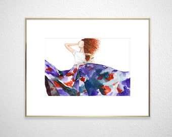 Fashion illustration - high quality giclee print