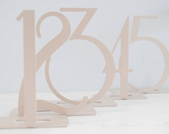 Contemporary Metal Table Numbers Sets
