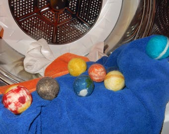 Save the Solar System Handmade Wool Dryer Balls