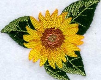 Sunflower Embroidered Flour Sack Hand/Dish Towel