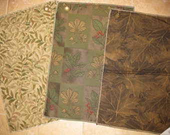 Fabulous Botanical Leaf Vignettes Lot Designer Fabric Samples 3 PCS SALE