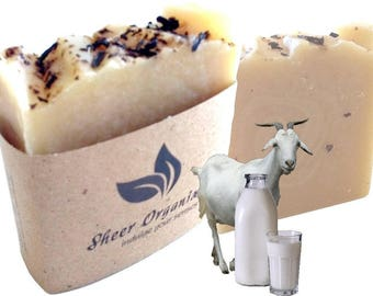 Sheer Organix Luxury Rejuvenative Handmade Herbal Soap, 3.52 oz. / 100g, Goat Milk