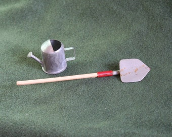 Miniature Gardening Tools: Shovel & Watering Can