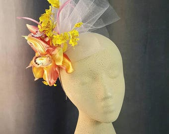 Orchid Floral Headband Fascinator