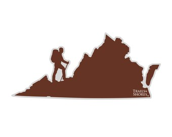 Virginia Hiking Decal