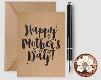 Mum Card - Mum Quote - Mummy First Love - Gifts For Mum From Daughter - Mum Greeting Card - Mother's Day Card - Mummy Card