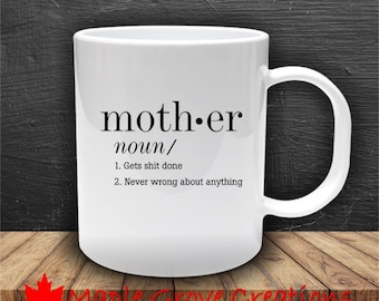 Mother Dictionary Definition Mug - 11 oz ceramic coffee mug