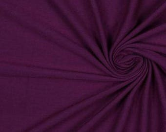 Plum In Rayon Jersey Solid Knit Fabric