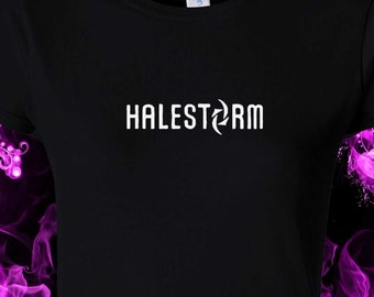 Halestorm - heavy - rock - music - band - lzzy -  black cotton gildan crew neck S-XXL