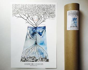 Displays the Goddess (A3)